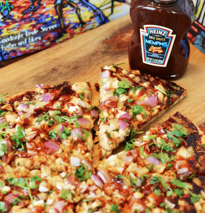 BBQ Pizza with Heinz BBQ Memphis Sweet and Spicy Sauce