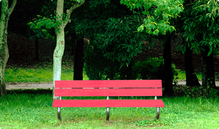 Kool-Aid Man<sup>®</sup>, this is the perfect color bench for you to rest on between wall bustings.