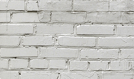 Red bricks disguised in white paint, but there's no fooling you.