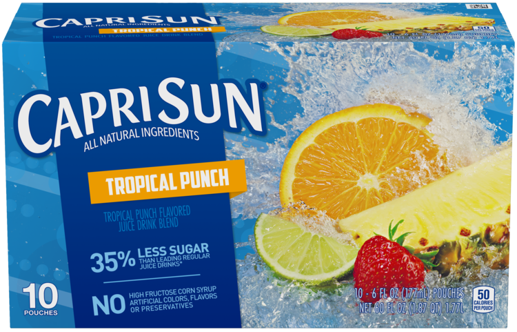Capri Sun Tropical Punch Ready-to-Drink Soft Drink 10 - 6 fl oz Pouches