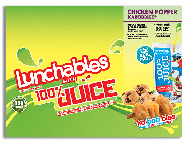Lunchables con 100% Jugo