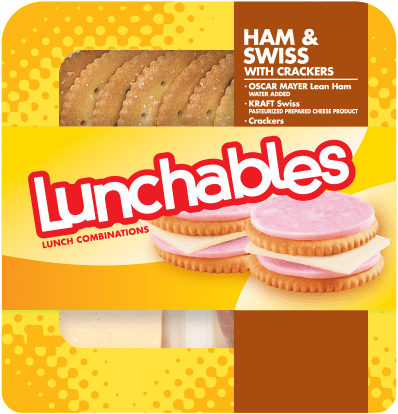 Ham + Swiss <br> with Crackers