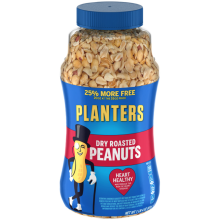 PLANTERS Dry Roasted Peanuts 25% More Free 20 oz Jar image