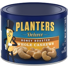 PLANTERS Deluxe Honey Roasted Whole Cashews 8.25 oz